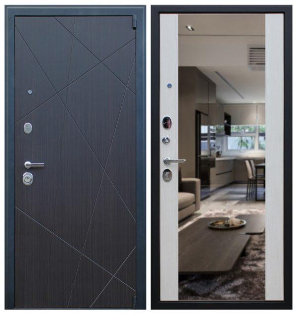 Входная дверь с зеркалом и шумоизоляцией СП167