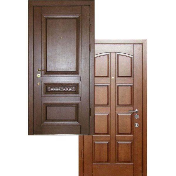 Дверь входная МАССИВ ДУБА + МДФ Филенчатый СП419