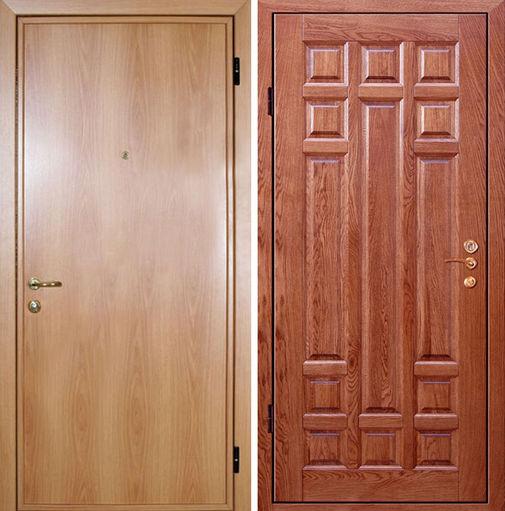 Входная металлическая дверь ламинат снаружи и МДФ внутри СП024
