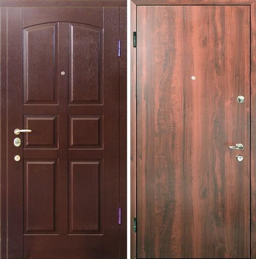 Входная металлическая дверь МДФ (шпон) и ламинат СП038