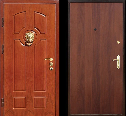 Входная металлическая дверь МДФ панель и ламинат СП036