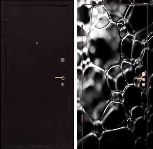 Входная металлическая дверь порошковое напыление и фотопечать СП029