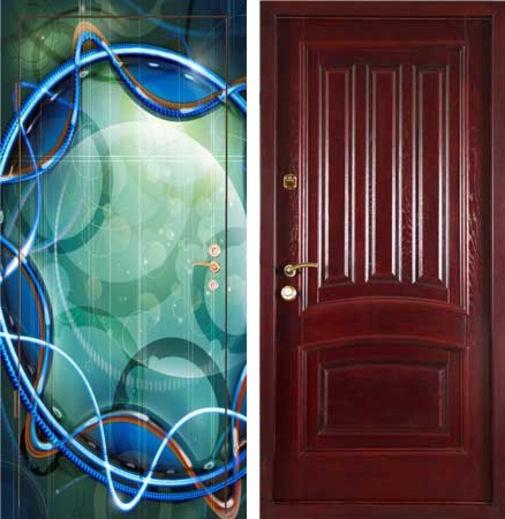 Входная металлическая дверь фотопечать и МДФ (ПВХ) СП061